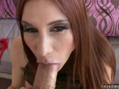 During a irrumation Sheila Marie lives to have mouth filled with a big dick