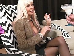 Lustful mother I'd like to fuck without hesitation jumps onto a hard ding-dong